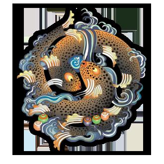 Golden Fish Pair