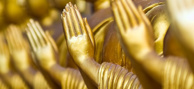 Buddhist gestures of respect